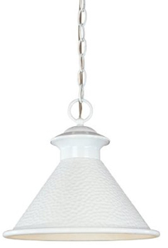 World Imports WI-9008-20 Dark Sky Essen 1-Light 12-Inch Hanging Light - Glossy White