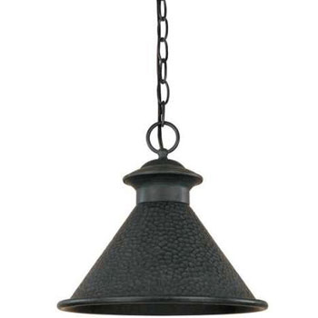 World Imports WI-9008-42 Dark Sky Essen 1-Light 12-Inch Hanging Light - Rust