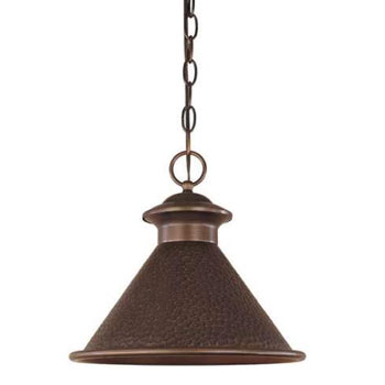 World Imports 9008-86 Dark Sky Essen 1 Light Dark Sky Pendant - Antique Copper