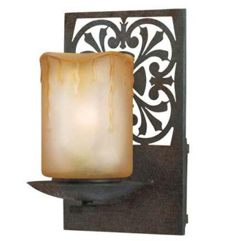 World Imports 9026-89 Adelaide Die-Cut Motif Sconce - Bronze