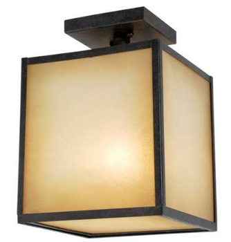 World Imports 9068-55  Hilden 1 Light Ceiling Mount -  Aged Bronze
