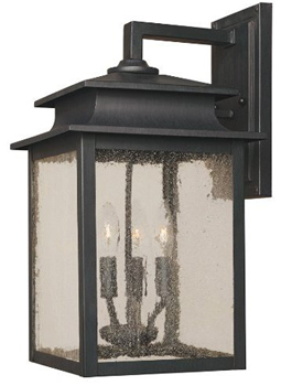 World Imports WI-9106-42 Sutton 9-Inch Outdoor Wall Sconce - Rust