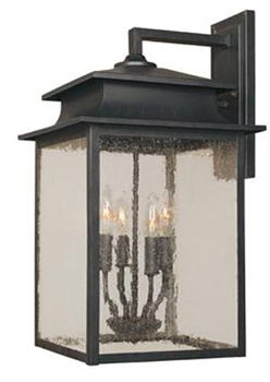 World Imports WI-9107-42 Sutton 12-Inch Outdoor Wall Sconce - Rust