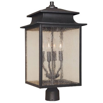 World Imports WI-9109-42 Sutton 12-Inch Post Lantern - Rust