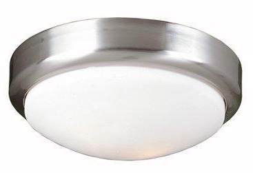 World Imports WI-9302-37 Beyond Modern 2 Light Flush Mount Fixture - Brushed Nickel