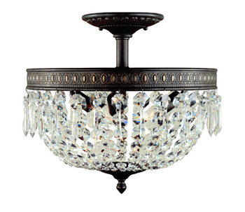 World Imports WI-2373-06 Timeless Elegance 3 Light Flush Mount Fixture - Flemish