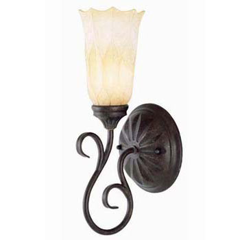 World Imports WI-3461-10 Modern Iron 1 Light Wall Sconce - Modern Bronze