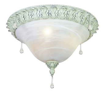 World Imports 5830-07 Alyssa 3 Light Flush Mount Fixture - Distressed White