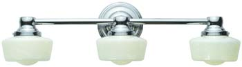 World Imports WI-8023-08 Bath 3 Light Bath Bar - Chrome