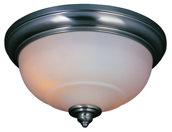 World Imports WI-8672-02 Bradsford 2 Light Flush Mount - Satin Nickel