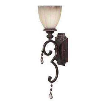 World Imports WI-1681-89 Avila Collection Traditional / Classic One Light Wall Sconce - Bronze