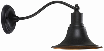 World Imports WI-9098-89 Dark Sky Collection Traditional / Classic One Light Outdoor Wall Sconce / Lantern - Bronze