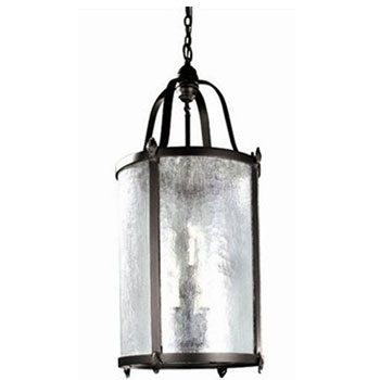 World Imports WI-1661-89 Old World Charm Collection Wrought Iron 9 Light Outdoor Pendant - Bronze
