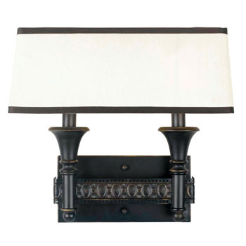 World Imports WI-2362-47 Manhattan Collection Traditional / Classic Two Light Wall Sconce - Oiled Bronze