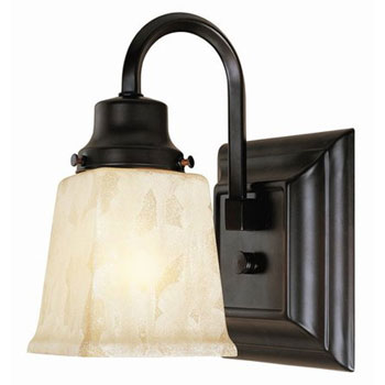 World Imports WI-2603-56 Transitional Up Lighting Wall Sconce - Weathered Copper