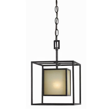 World Imports WI-4112-55 Hilden Collection Contemporary / Modern Four Light Chandelier - Aged Bronze