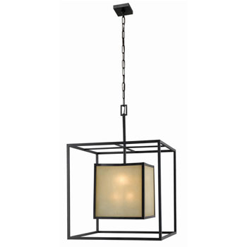 World Imports WI-4113-55 Hilden Collection Contemporary / Modern Eight Light Chandelier - Aged Bronze