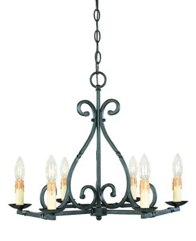 World Imports WI-61817-42 Rennes Traditional Chandelier - Rust