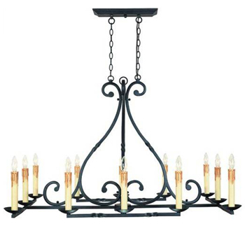 World Imports WI-61819-42 Rennes Traditional Chandelier - Rust