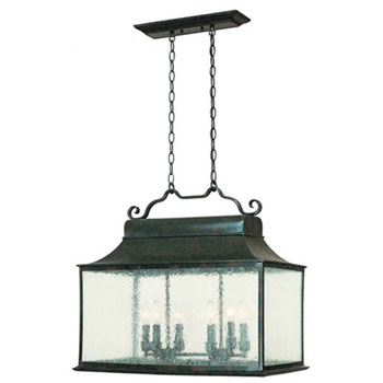 World Imports WI-9005-06 Dark Sky Revere Transitional Kitchen Island / Billiard Light - Flemish