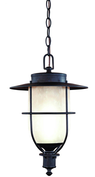 World Imports WI-9076-99 Madrid Collection Craftsman / Mission Single Light Outdoor Pendant - Wrought Iron