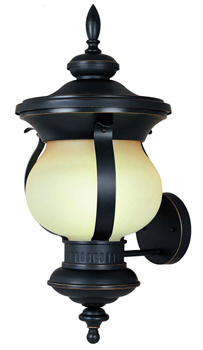 World Imports WI-9092-55 Barnsley Collection Traditional / Classic One Light Outdoor Wall Sconce - Aged Bronze