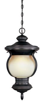 World Imports WI-9094-55 Barnsley Collection Traditional / Classic One Light Outdoor Hanging Light - Aged Bronze