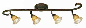 World Imports WI-T2624-24 Olympus Fixed ''S'' Track Light with Decorative Swivel Head - Crackled Bronze with Silver