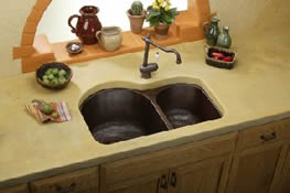 Think Copper Sink : Herbeau and Elkay Copper Kitchen Sinks