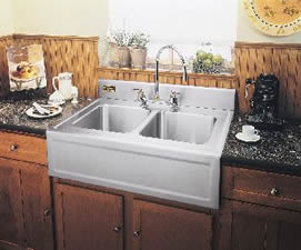 elkay elite gourmet double bowl kitchen sink with apron - Farmhouse Kitchen Sinks
