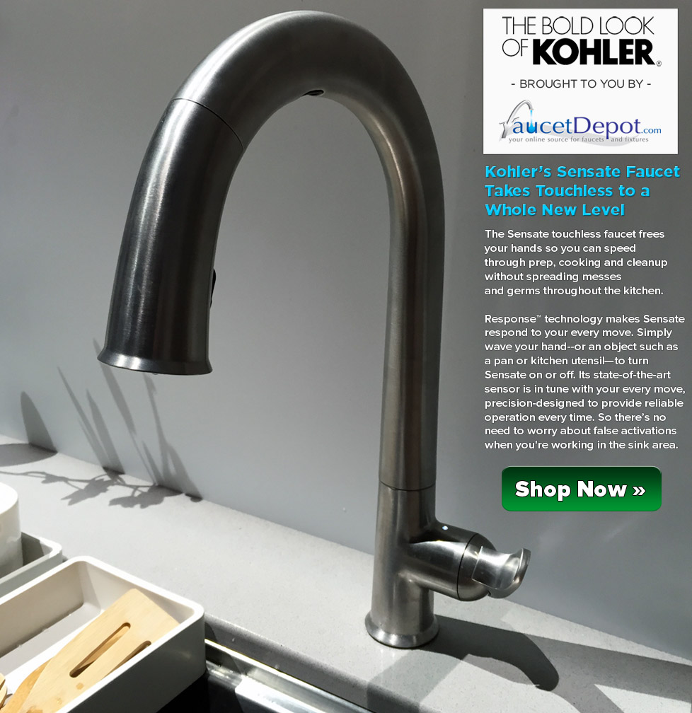 Kohler Sensate Faucets - Taking Touchless to a Whole New Level