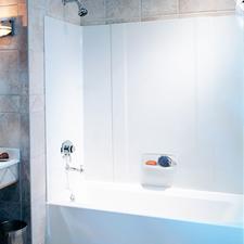 Bathtub, surround quandryacrylic, fiberglass, Swanstone