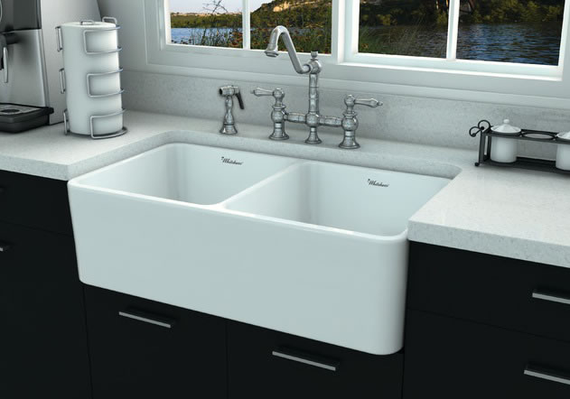 whitehaus fireclay kitchen sink - Drop In Kitchen Sink