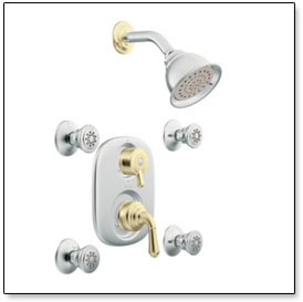 Monticello Moentrol Vertical Spa Shower System