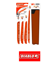 Diablo DS0014S 14 pc Nail-Embedded Wood and Metal Demolition Recip Set